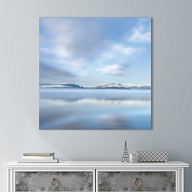 Highland Dunes 'Mirrored Sunrise' Painting Print on Wrapped Canvas; 24'' H x 24'' W