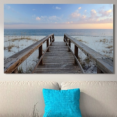 Highland Dunes 'Pensacola Sunset' Photographic Print on Wrapped Canvas; 36'' H x 60'' W