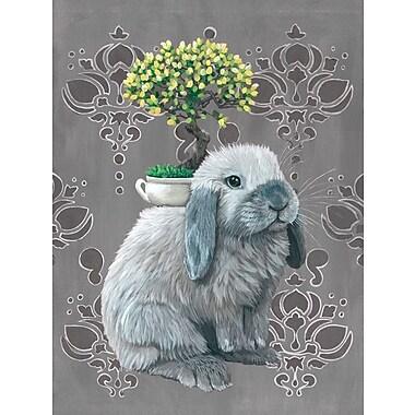 Latitude Run 'Bonsai Bunny' Print on Canvas; 40'' H x 30'' W