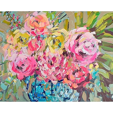 Red Barrel Studio 'Ginger Jar Florals' Print on Canvas; 24'' H x 30'' W