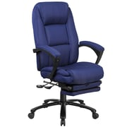 Red Barrel Studio Worthen Reclining Swivel Office High-Back Executive Chair; Navy