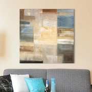 Red Barrel Studio 'Soft Squares' Painting Print on Wrapped Canvas; 28'' H x 28'' W