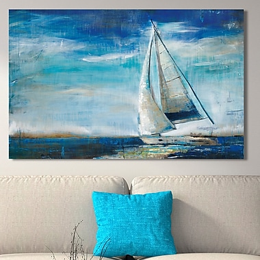 Breakwater Bay 'Sail Away' Painting Print on Wrapped Canvas; 24'' H x 40'' W