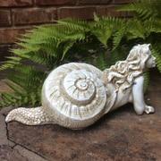 HomeStyles Life's a Beach Sea Nymph 'Pasithea' Shell Statue; Crackle Salmon