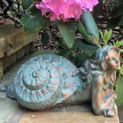 HomeStyles Life's a Beach Sea Nymph 'Pasithea' Shell Statue; Antique White