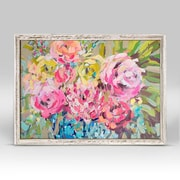 Red Barrel Studio 'Ginger Jar Florals' Framed Print on Canvas