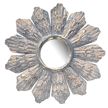 Ophelia & Co. Glass and Wood Mirror