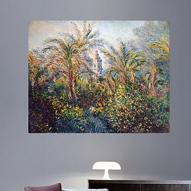 1884 'Garden in Bordighera, Impression of Morning' by Claude Monet Oil Painting Print Poster