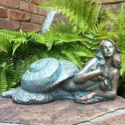 HomeStyles Life's a Beach Sea Nymph 'Sao' Shell Statue; Bronze Patina