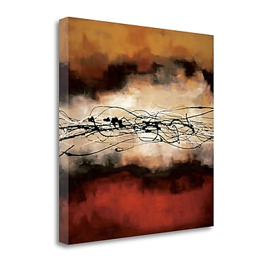Tangletown Fine Art 'Harmony in Red and Ochre' by Laurie Maitland Painting Print on Wrapped Canvas