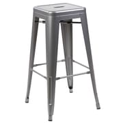 17 Stories Honora 26'' Dining Bar Stool; Matt Silver