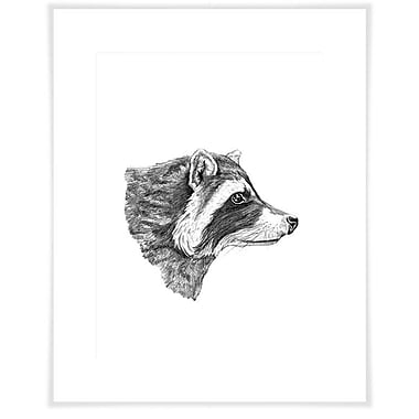 Loon Peak 'The Raccoon's Good Side' Acrylic Painting Print on Paper; 29'' H x 23'' W x 0.02'' D