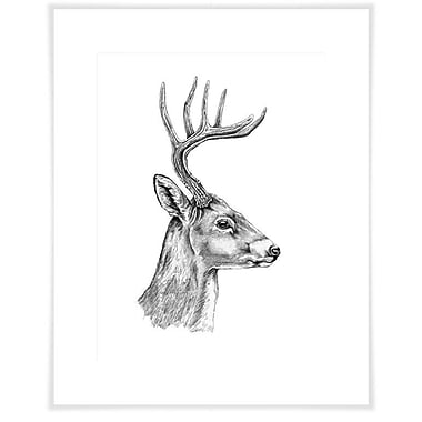 Loon Peak 'The Deer's Good Side' Acrylic Painting Print on Paper; 29'' H x 23'' W x 0.02'' D