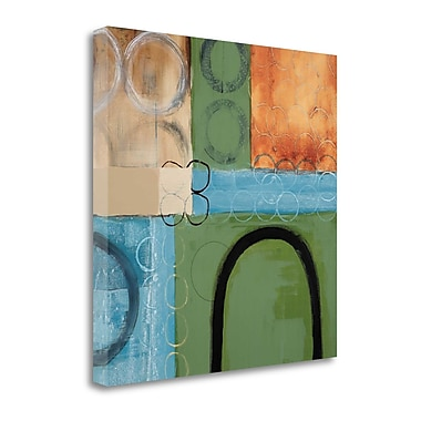 Tangletown Fine Art 'Make a U-Turn' by Leslie Bernsen Painting Print on Wrapped Canvas