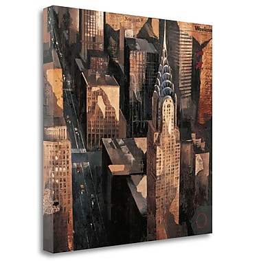Tangletown Fine Art 'Chrysler Building View' by Marti Bofarull Painting Print on Wrapped Canvas