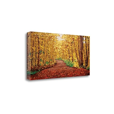 Tangletown Fine Art 'Autumn Dream' by Graham Forsythe Graphic Art on Wrapped Canvas; 20'' H x 39'' W