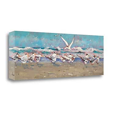 Tangletown Fine Art 'The Late Comer' by Graham Forsythe Painting Print on Wrapped Canvas
