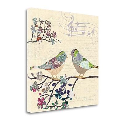 Tangletown Fine Art Patch Work Birds II' Graphic Art Print on Canvas; 20'' H x 20'' W WYF078281350643