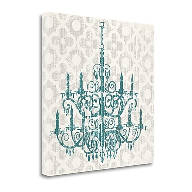 Tangletown Fine Art Quatrefoil Chandelier II' Graphic Art Print on Canvas; 24'' H x 24'' W