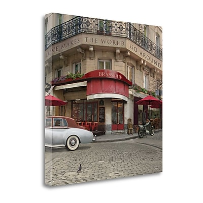 Tangletown Fine Art Love Makes The World Go Around' Print on Canvas; 30'' H x 30'' W