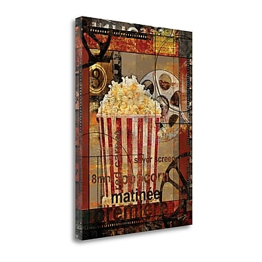 Tangletown Fine Art Movie Popcorn' Graphic Art Print on Canvas; 37'' H x 28'' W