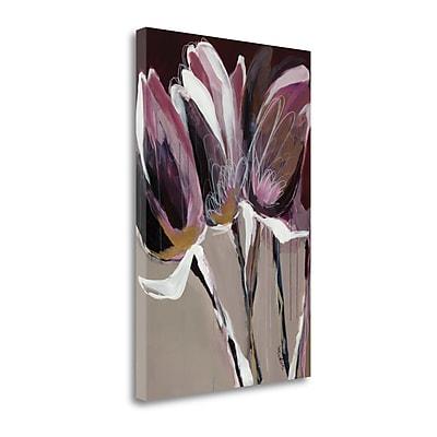 Tangletown Fine Art 'Aubergine Splendor I' by Angela Maritz Painting Print on Wrapped Canvas