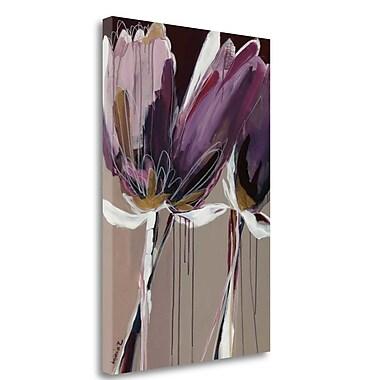 Tangletown Fine Art 'Aubergine Splendor II' by Angela Maritz Painting Print on Wrapped Canvas