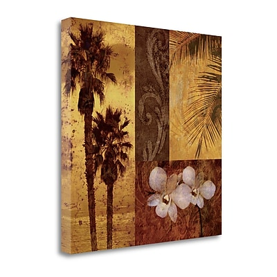 Tangletown Fine Art 'Sunset Beach I' by Keith Mallett Graphic Art on Wrapped Canvas; 25'' H x 25'' W