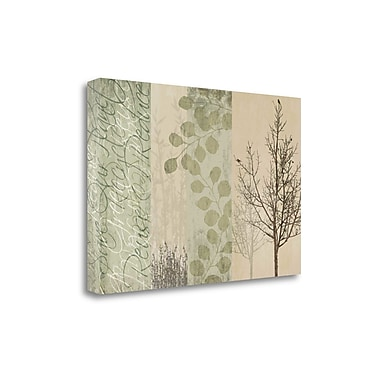 Tangletown Fine Art 'Go Green' by Tandi Venter Graphic Art on Wrapped Canvas; 26'' H x 39'' W