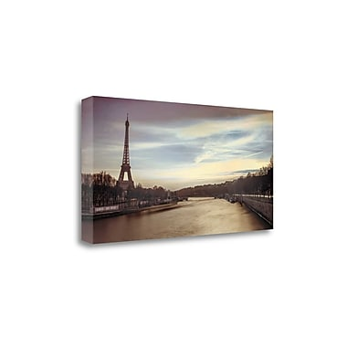 Tangletown Fine Art 'Paris Sunset' by Assaf Frank Photographic Print on Wrapped Canvas