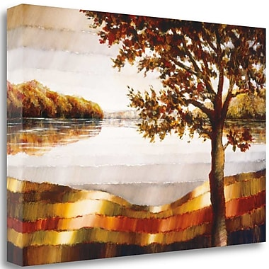 Tangletown Fine Art 'Lake Mamry' by Zenon Burdy Graphic Art on Wrapped Canvas; 16'' H x 24'' W