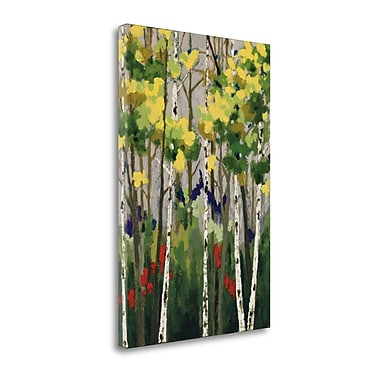 Tangletown Fine Art 'Whispering' by Rita Vindedzis Graphic Art on Wrapped Canvas; 29'' H x 20'' W