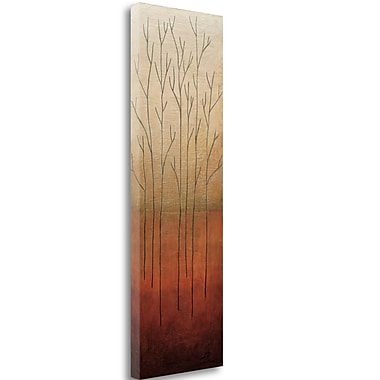 Tangletown Fine Art 'Branch Rouge II' by Eve Graphic Art on Wrapped Canvas; 39'' H x 13'' W