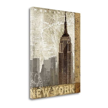 Tangletown Fine Art 'Autumn in New York' by Keith Mallett Graphic Art on Wrapped Canvas