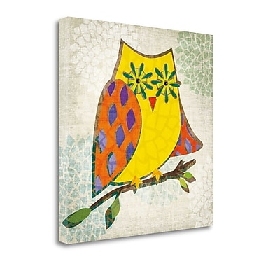 Tangletown Fine Art 'Whos Hoo II' by Tandi Venter Graphic Art on Wrapped Canvas; 30'' H x 30'' W