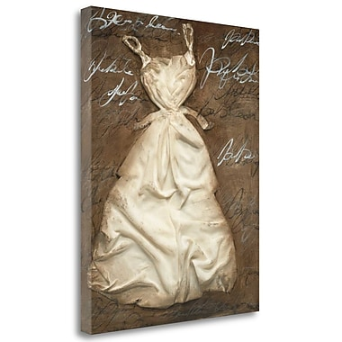 Tangletown Fine Art 'Pretty n Chique I' by MARIA Graphic Art on Wrapped Canvas; 39'' H x 26'' W