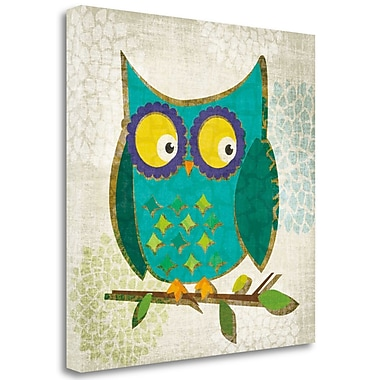 Tangletown Fine Art 'Whos Hoo I' by Tandi Venter Graphic Art on Wrapped Canvas; 20'' H x 20'' W