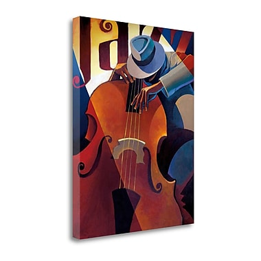 Tangletown Fine Art 'Straight Ahead' by Keith Mallett Graphic Art on Wrapped Canvas; 28'' H x 22'' W