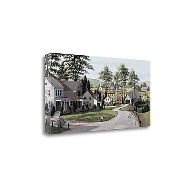 Tangletown Fine Art 'The Covered Bridge' by Bill Saunders Photographic Print on Wrapped Canvas