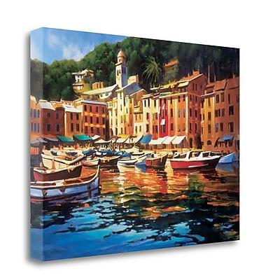 Tangletown Fine Art 'Portofino Colors' by Michael OToole Graphic Art on Wrapped Canvas