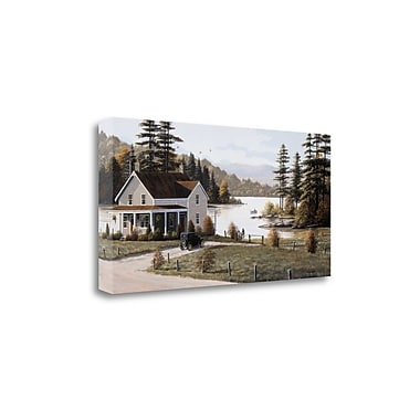 Tangletown Fine Art 'Out on the Lake' by Bill Saunders Photographic Print on Wrapped Canvas