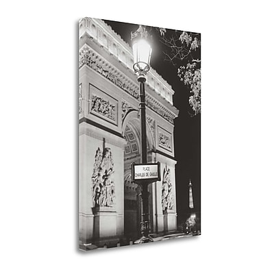 Tangletown Fine Art 'Place Charles de Gaulle' by Clay Davidson Graphic Art on Wrapped Canvas