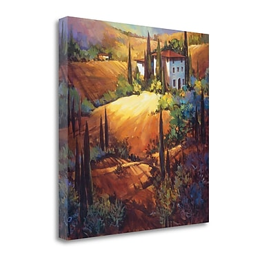 Tangletown Fine Art 'Morning Light Tuscany' by Nancy OToole Painting Print on Wrapped Canvas
