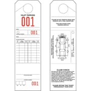 Merangue 1000 Valet Parking Tags (000-999)