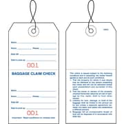 Merangue 1000 Baggage Claim Check Tags (000-999), Strung
