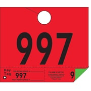 "Merangue 1000 Auto ID Tags, Red/Green, 6 1/2"" x 5 1/4"" (1000-1999)"