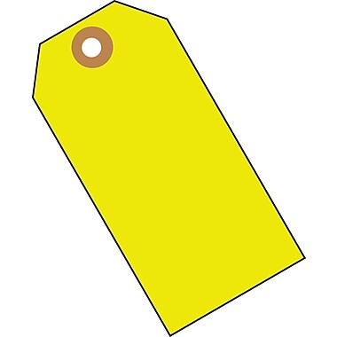 Merangue - 1000 étiquettes vierges, jaune fluorescent, taille 5