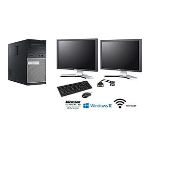 Dell-PC de table OptiPlex 7010 tour remis à neuf et 2 écrans ACL 22po, 3,2GHz IntelCore i5-3470, DD 1To, 16Go RAM, Win10 Pro