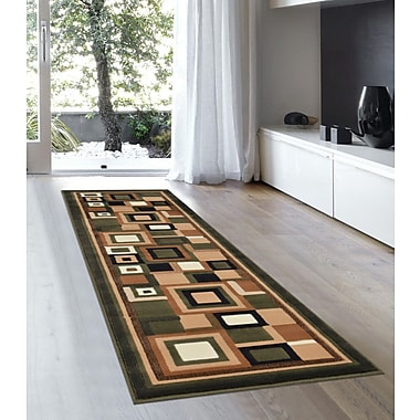 Ebern Designs Soto Sage Green Area Rug; 5'2'' x 7'2''