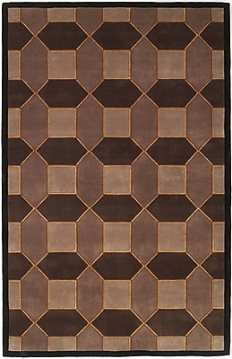 Winston Porter Zavala Hand-Tufted Wool Brown Area Rug